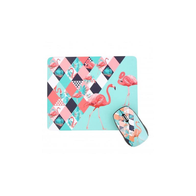 shoppi - Ensemble souris sans fil et tapis de souris EXOTIC T'nB