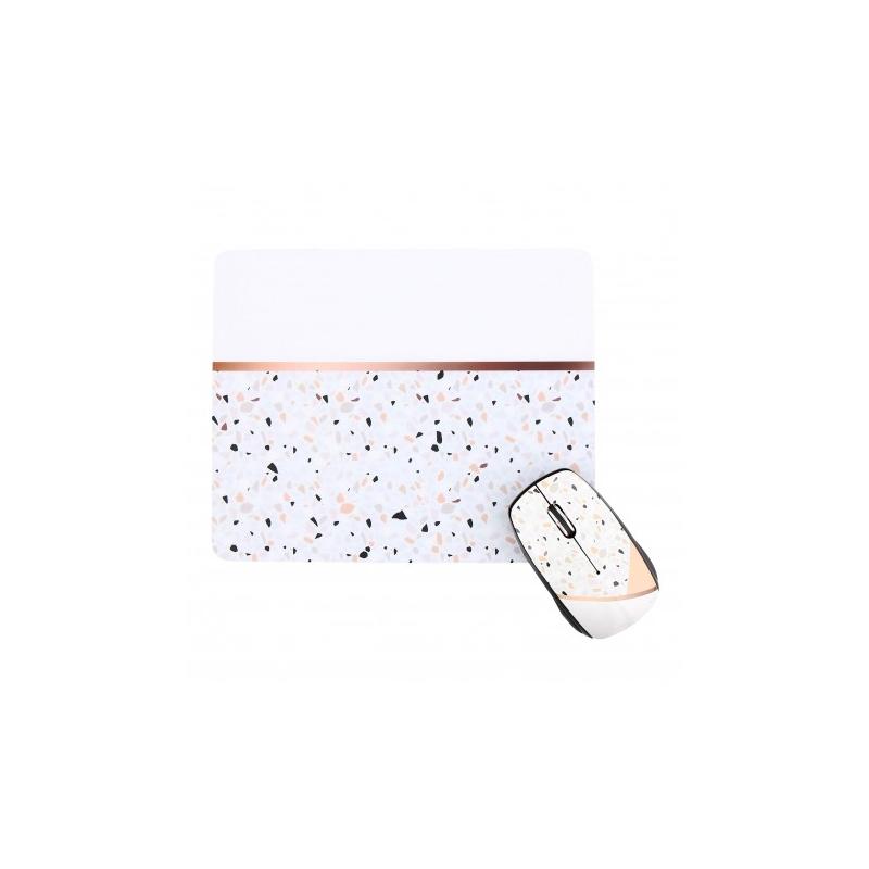 shoppi - Ensemble souris sans fil et tapis de souris TERRAZZO T'nB