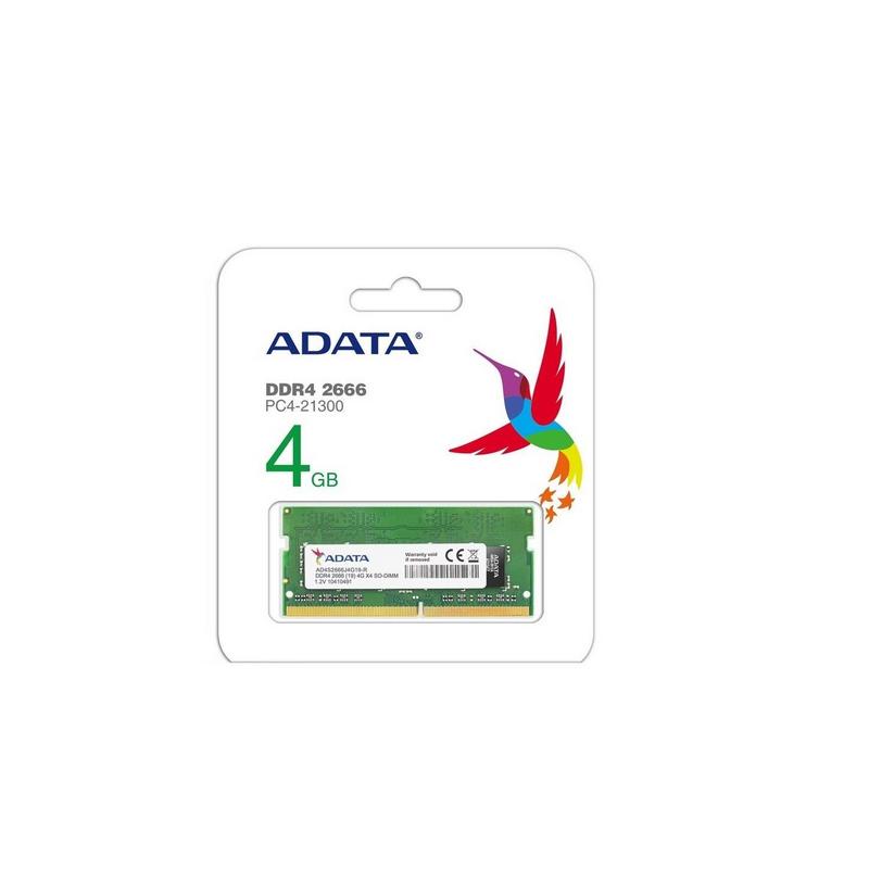 shoppi - Barrette Mémoire ADATA 4Go DDR4 2666 MHz Pour PC Portable