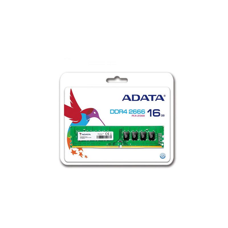 shoppi - Barrette Mémoire ADATA 16Go DDR4 2666 MHz Pour PC De Bureau