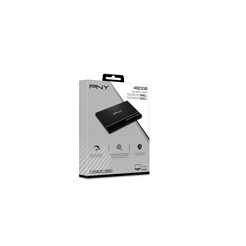 shoppi - Disque Dur interne SSD PNY CS900 / 480 GO