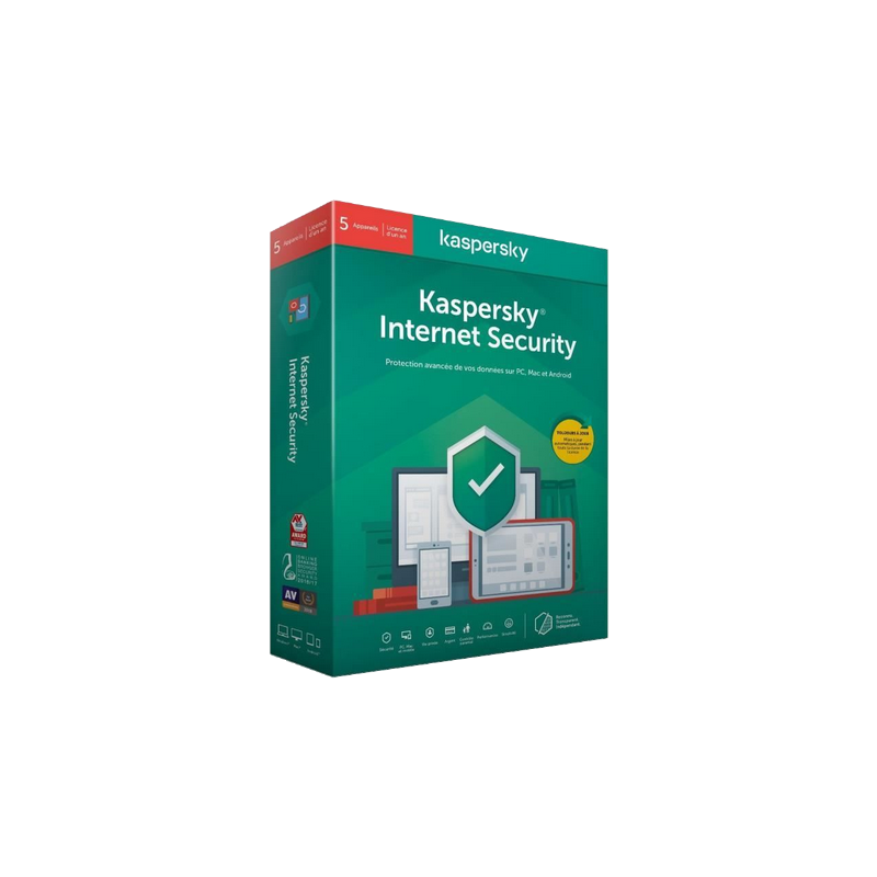 shoppi - KASPERSKY INTERNET SECURITY 2020 - 1 AN / 5 POSTES