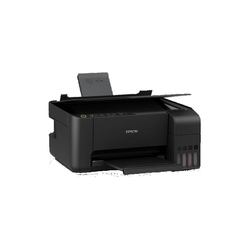 shoppi - Imprimante Jet d'Encre à Réservoir Intégré EPSON ECOTANK L3150 3En1 Couleur - Wi-Fi