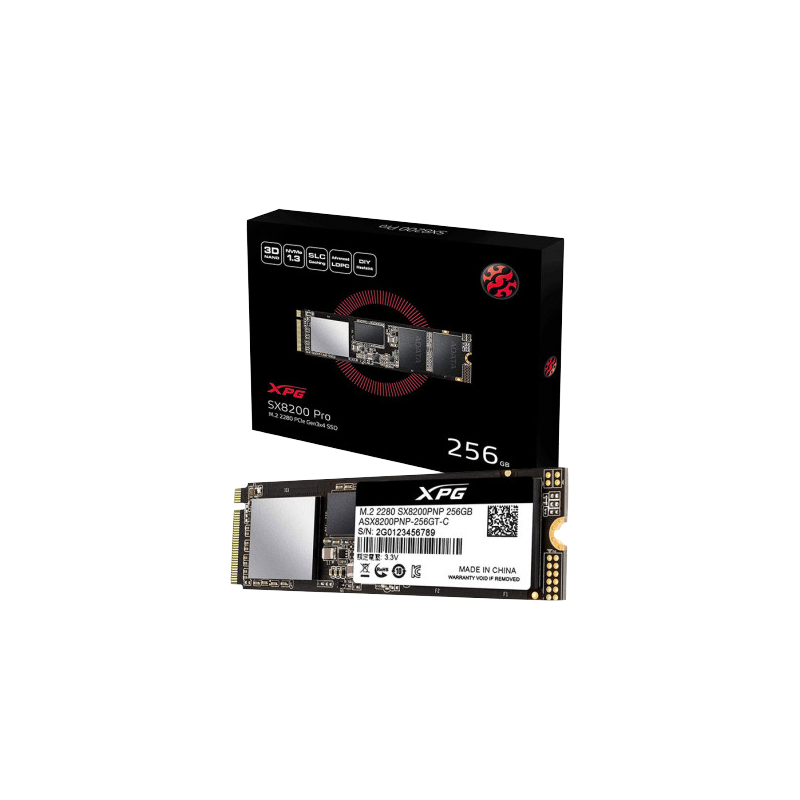 shoppi - DISQUE DUR INTERNE SSD ADATA XPG SX8200 PRO PCIE GEN3X4 M.2 2280 / 256 GO