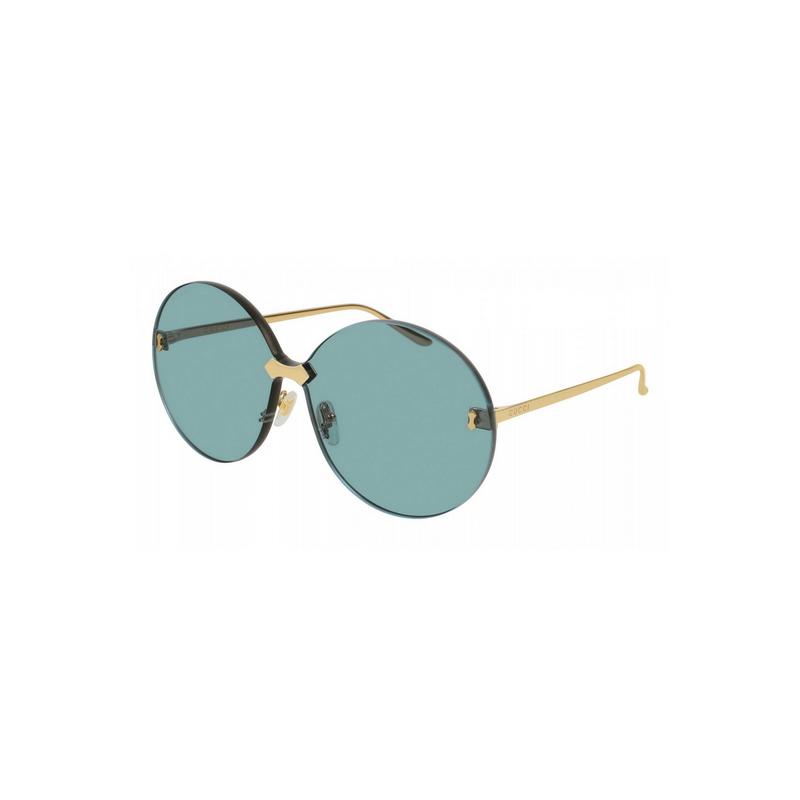 shoppi -  Lunettes de soleil rondes bleues Gucci