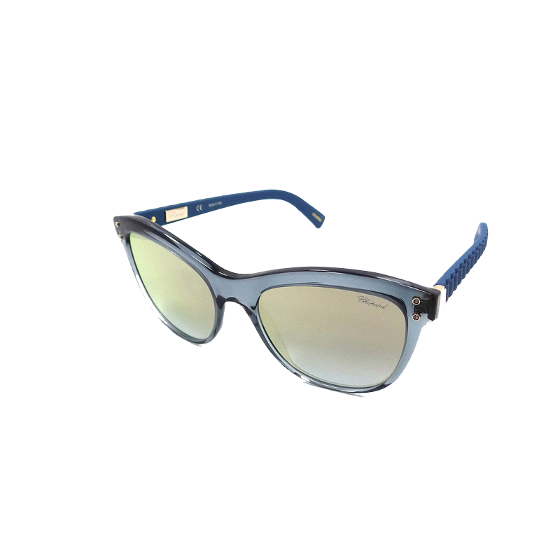 shoppi - Lunettes de soleil Chopard SCH 214 Transparent Bleu / Or Flash Italie
