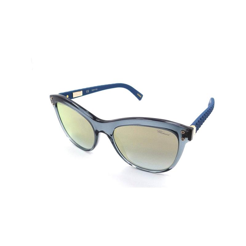 shoppi - Lunettes de soleil Chopard SCH 214 Transparent Bleu / Or Flash Italie