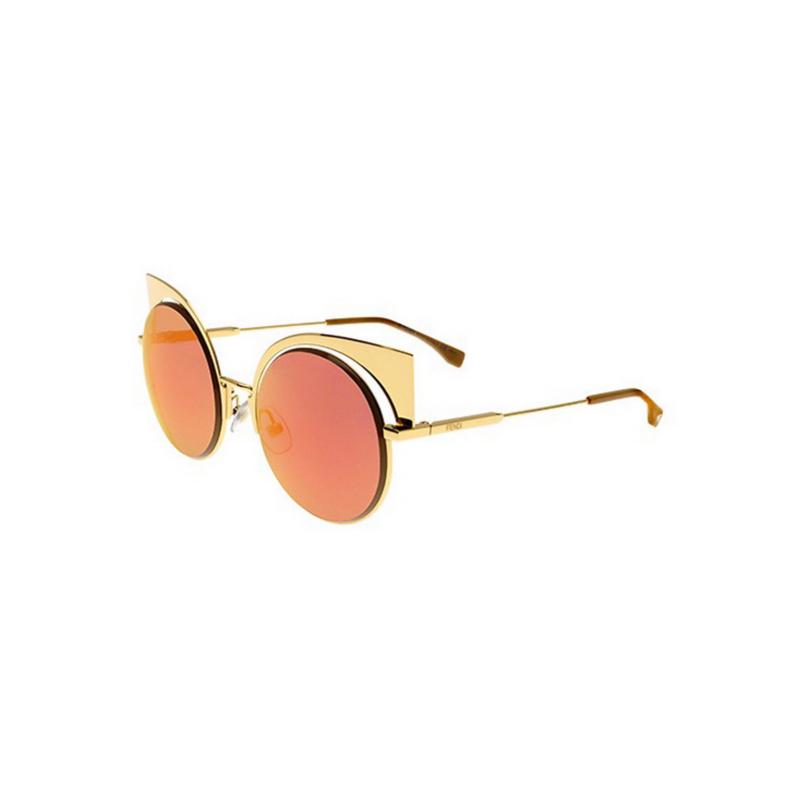 shoppi - Lunettes de soleil rondes FENDI 001OJ Gold 0177