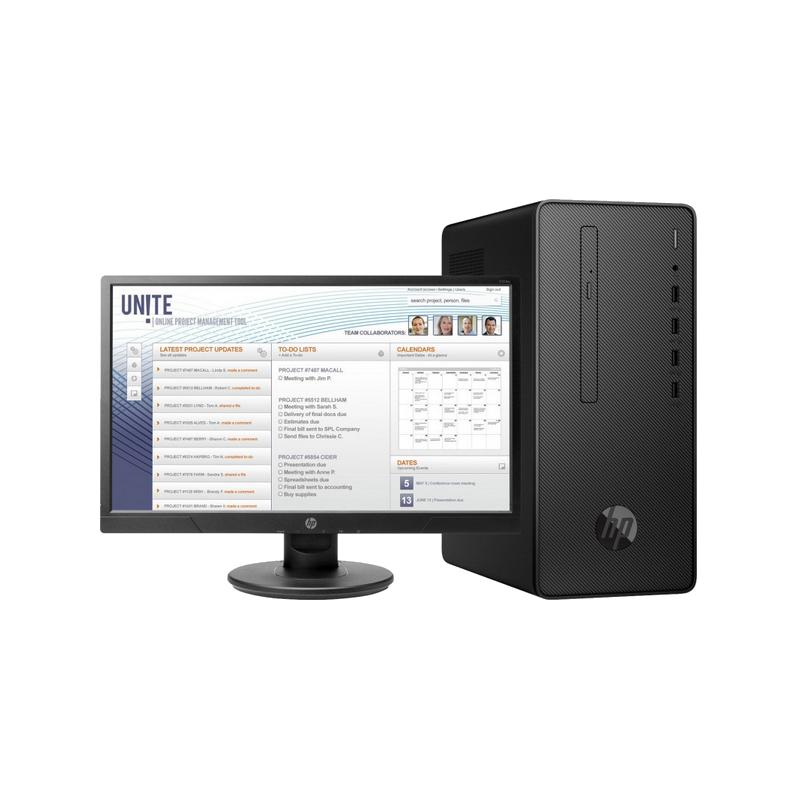 shoppi - PC DE BUREAU HP Pro 300 G6 Pentium 6400 / 4GB / 1TB , ECRAN  20.7
